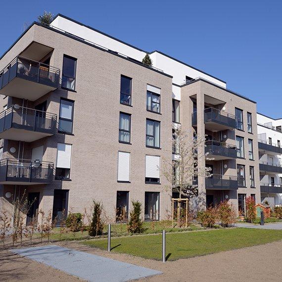 Immeuble gris appartements à louer